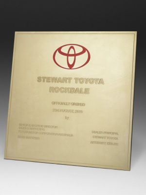 Toyota-Custom metal plaque with photographic aluminium. H: 290mm W: 210mm