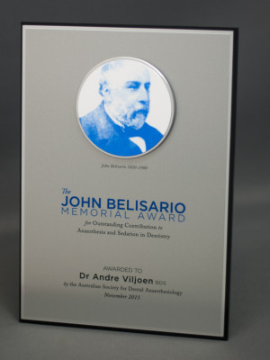 John Belisario Award - Custom Award Plaque