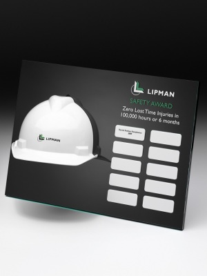 Lipman-Safety Awards. Custom plaque with photographic aluminium. H: 300mm W: 600mm