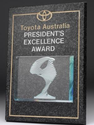 Toyota Australia President's Excellence Award Plaque