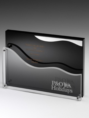 P&O Shipping-Custom acryclic plaque. H: 300mm W: 250mm.