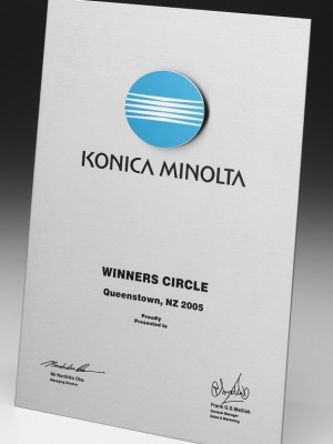 Konica Minolta Award Plaque