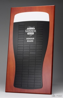 Guinness-Acrylic on select timber. H: 650mm W: 450mm.