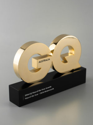 GQ Man of the Year Awards Gold Trophy