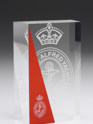 Royal Prince Alfred Yacht Club - engraved and laser etched acrylic award