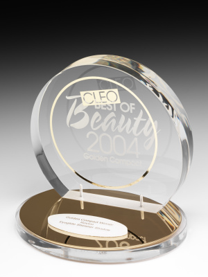 Cleo Best of Beauty Golden Compact Crystal Awards