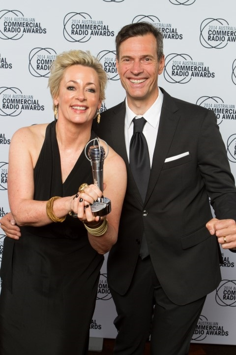 ACRA Microphone Awards | Best On -Air Team Metro FM Amanda Keller and Brendan Jones - Award makers Sydney