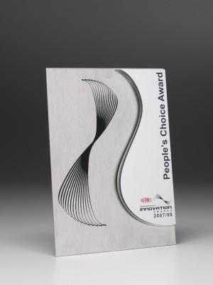 Du Pont Innovation Awards People's Choice Award - custom cut aluminium and acrylic