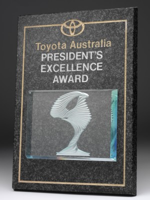 Toyota Australia President's Excellence Award Granite Plaque
