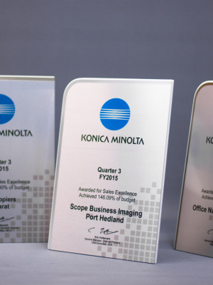 Konica Minolta Custom Award Plaque