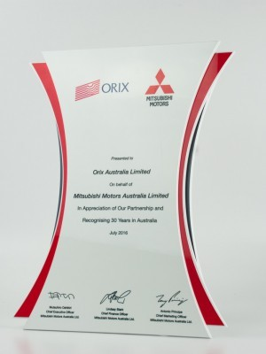 Mitsubishi Award Plaque | Design Awards