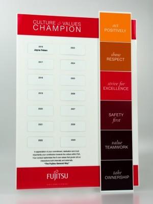 Fujistu Perpetual Award Plaque