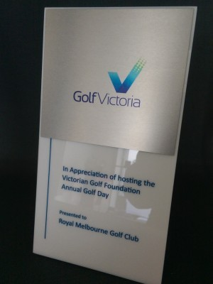 Golf Victoria Award Plaque