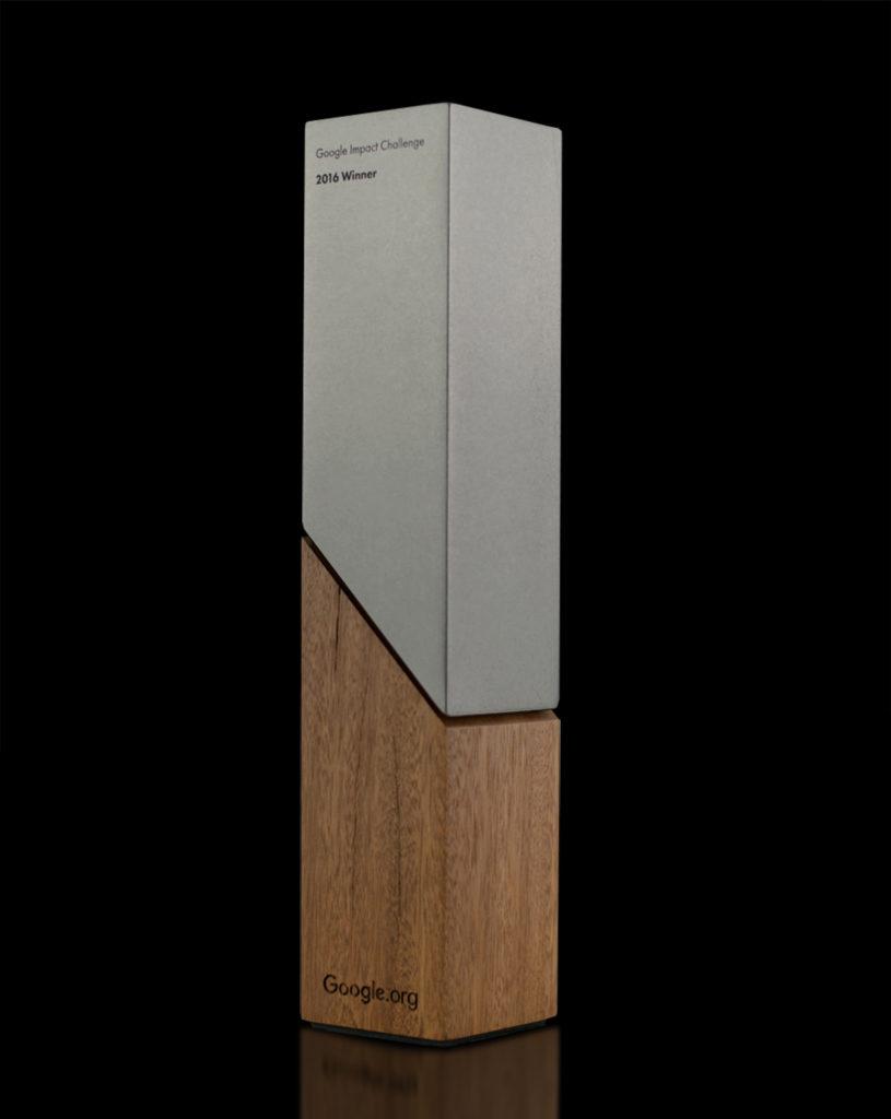 Google Impact Challenge Awards Sustainable Trophy