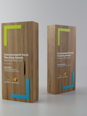 Commonwealth Bank Teaching Fellowship Award Trophies
