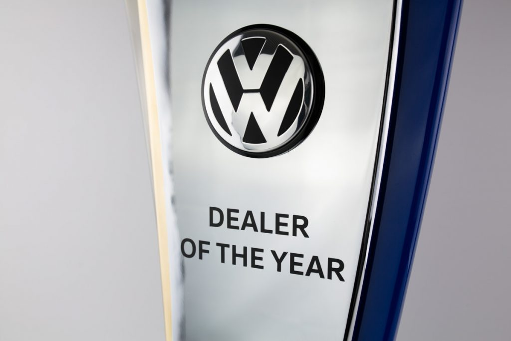 Volkswagen Dealer of the Year Perpetual Award Trophy