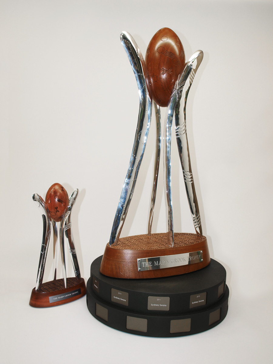 Custom Sustainable Football Trophy