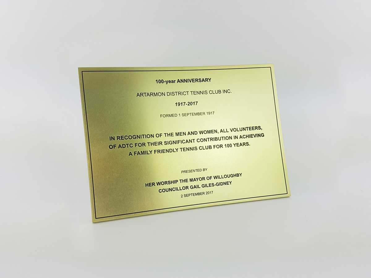 Custom Brass Plaques Sydney