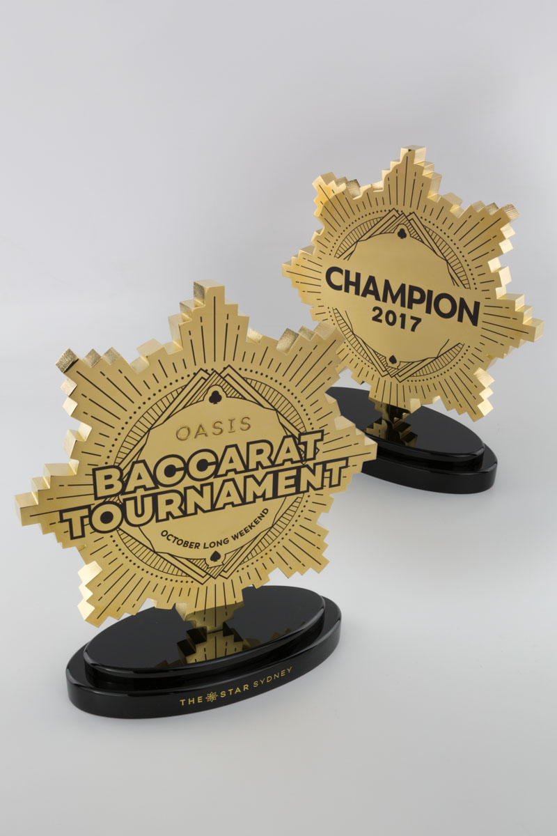 The Star Sydney Baccarat Tournament Champion Trophies Australia