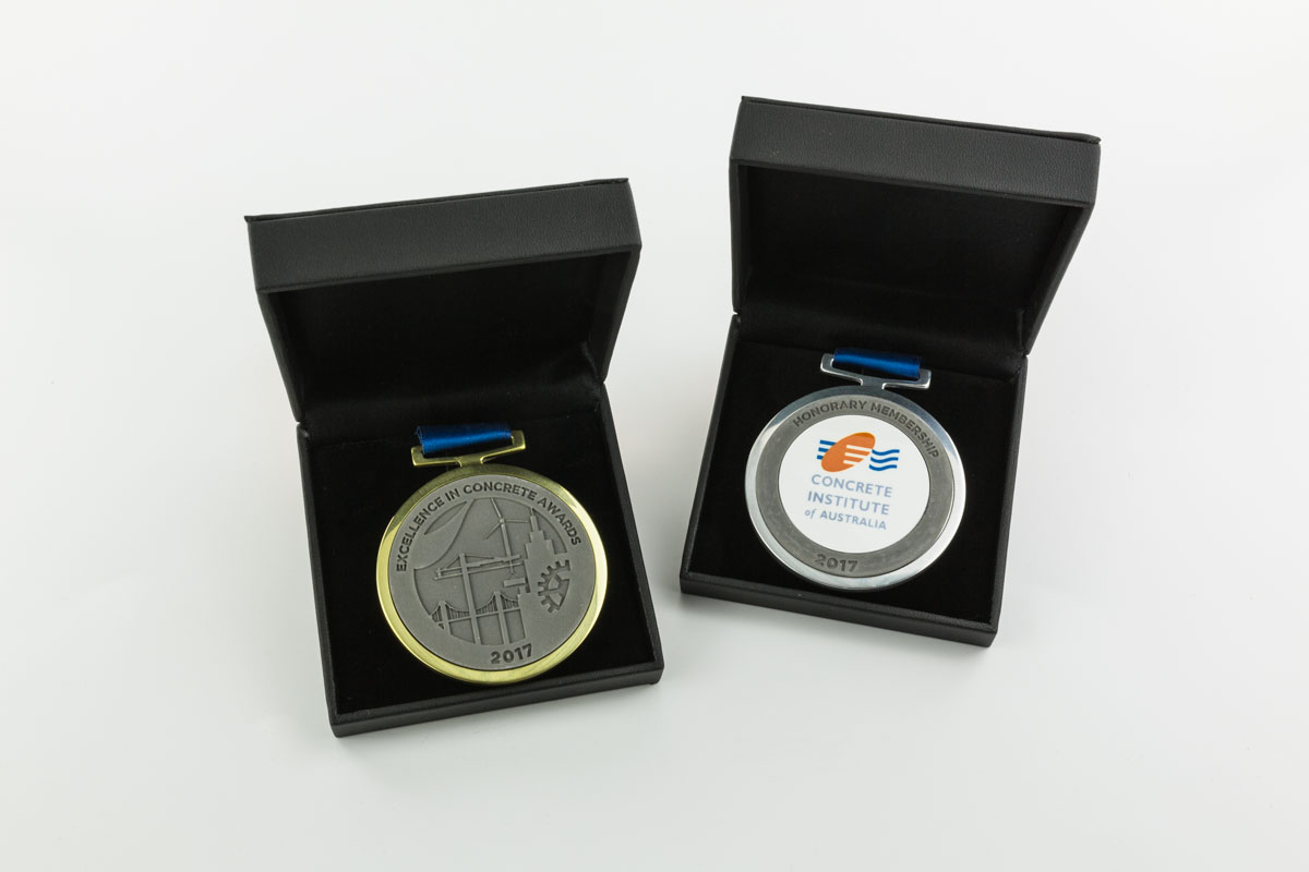Concrete Institute of Australia Custom Concrete Award Medallions