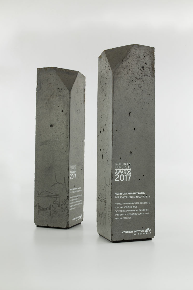 Concrete Institute Custom Concrete Award Trophies