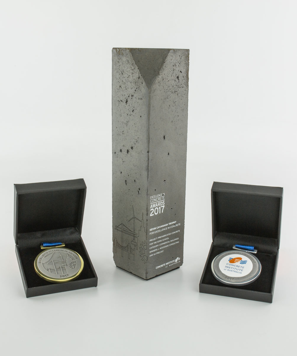 Concrete Institute of Australia Custom Concrete Award Medallions and Trophies Melbourne