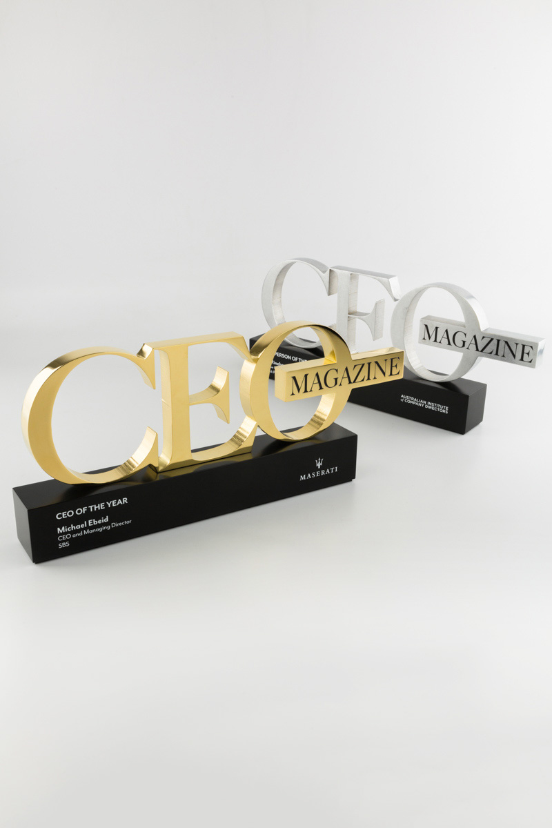 CEO Magaine Executive of the Yeart Award Trophies 2017