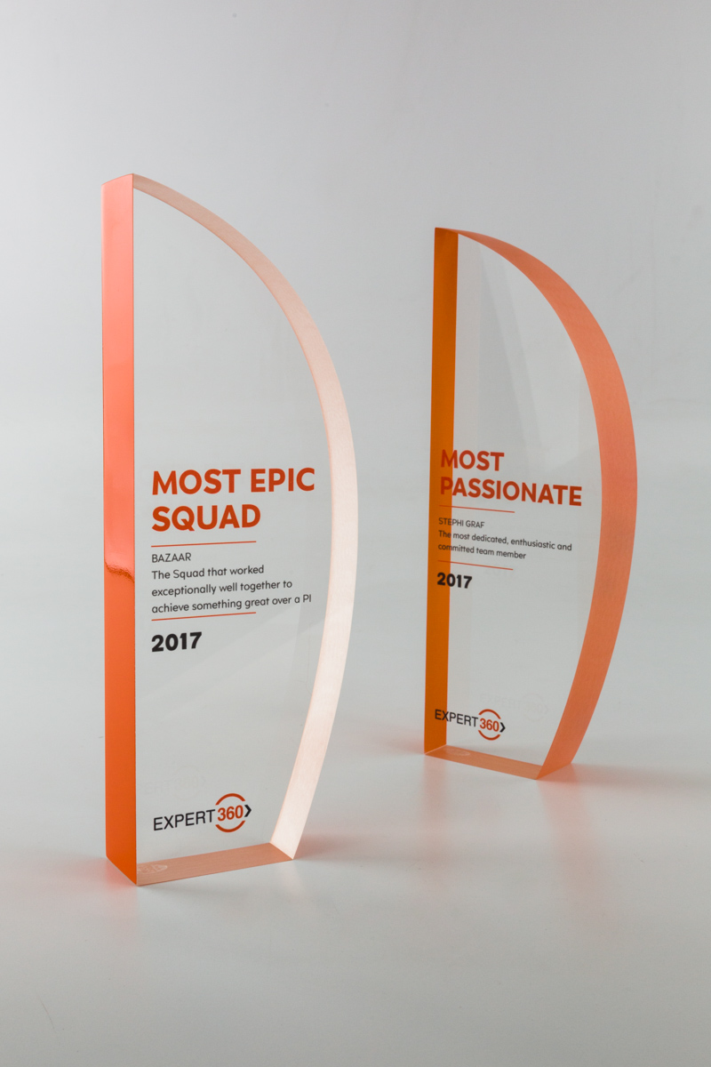 Expert 360 Custom Acrylic Recognition Trophies
