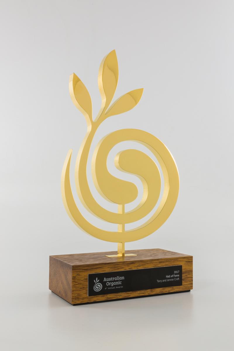 Australian Organic Custom Award Trophies