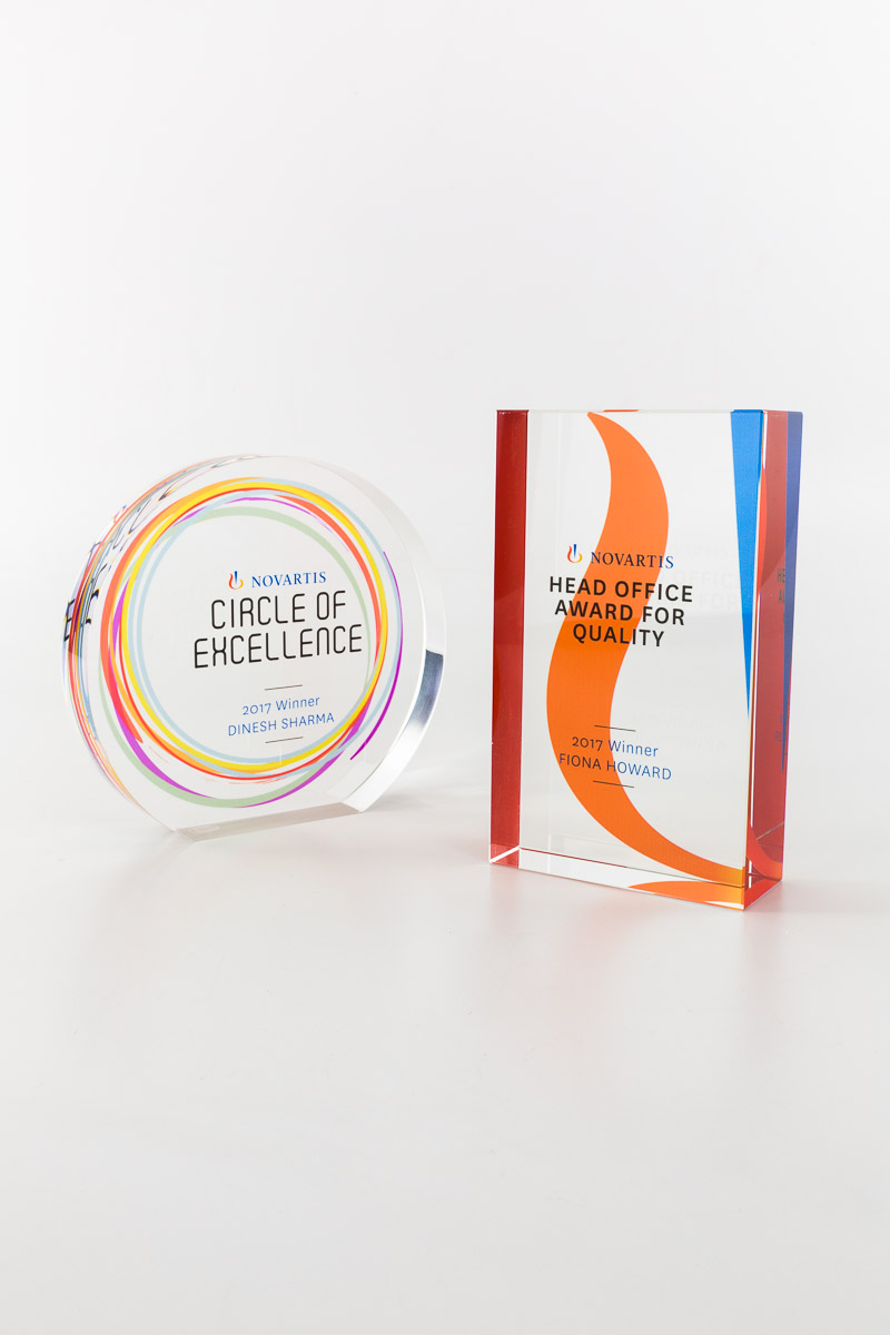 Novartis Circle of Excellence Corporate Award Trophies