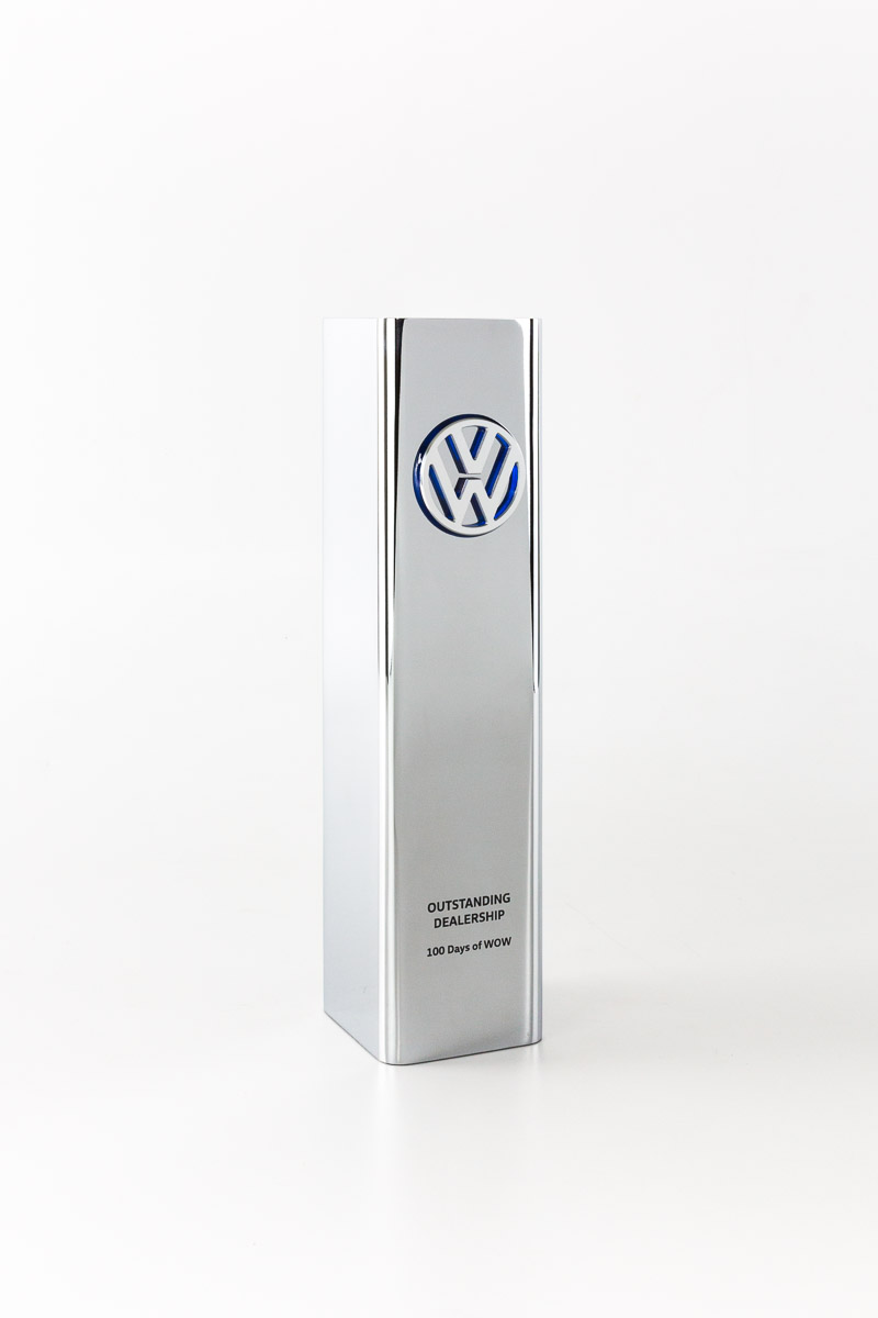 Volkswagen Outstanding Dealership Chrome Trophy