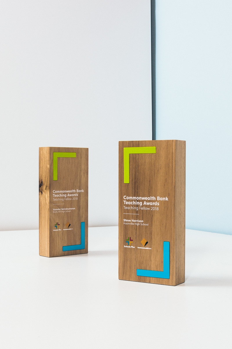 Commonwealth Bank Teaching Awards Teaching Fellow Sustainable Trophies