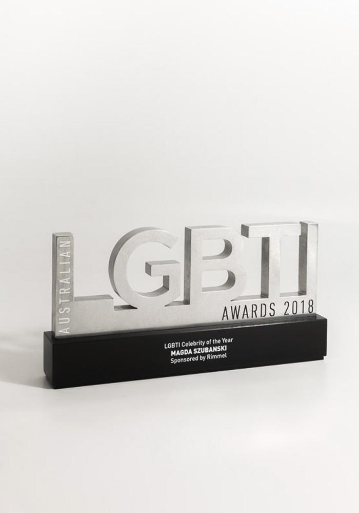 LGBTI Australia Award Trophy