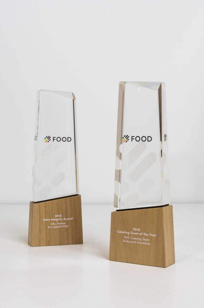 Google Food Global Award Trophies
