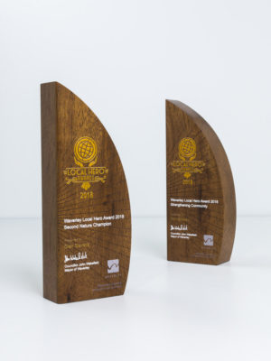 Waverley Council Sustainable Hero Award Trophies