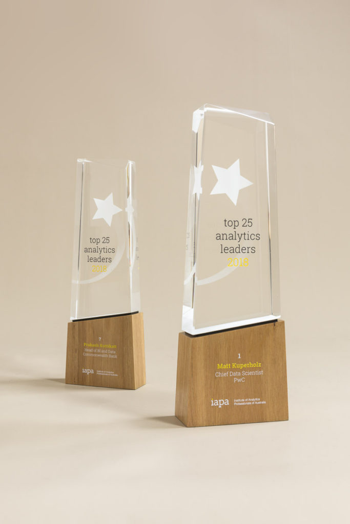 IAPA ADMA Analytics Leaders Award Trophies