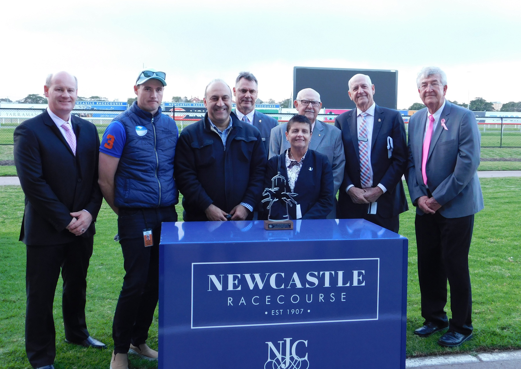 The Newcastle Jockey Club Trophy Presentation