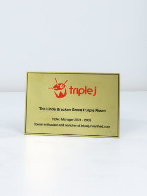 Triple J Brass Plaque