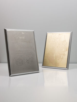 Robina Recognition Award Plaques - Solid Sterling Silver and Brass