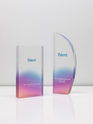 Talent International Acrylic Award Trophies