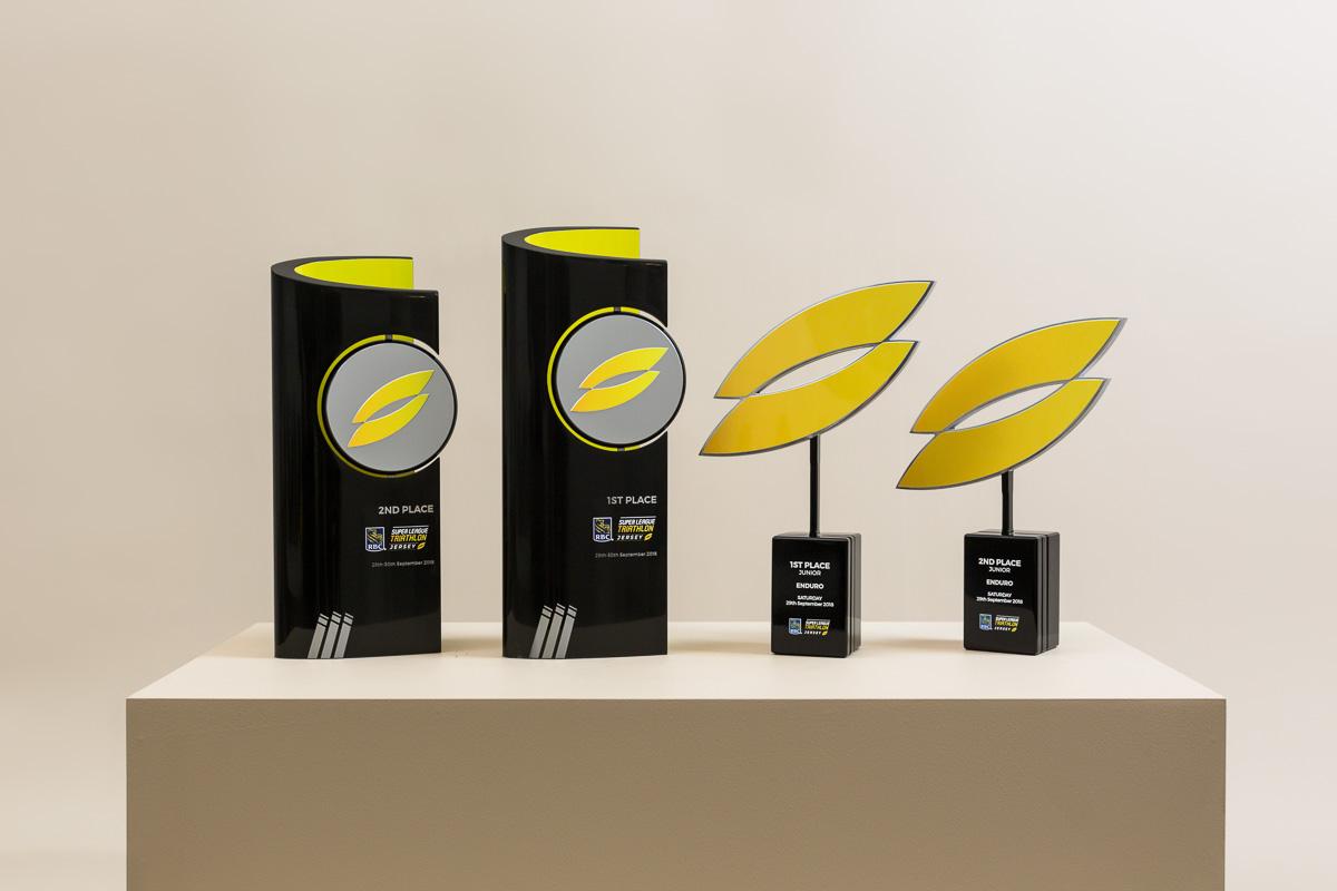 Super League Triathlon Winners Trophies