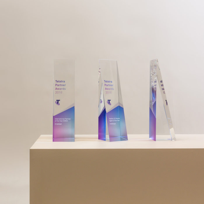 Telstra Partner Awards Trophies