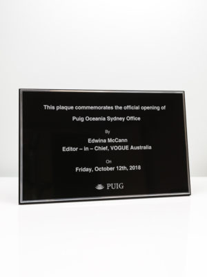 PUIG Commemorative Opening Plaque