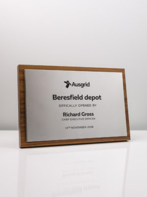 Ausgrid Opening Commemorative Plaque