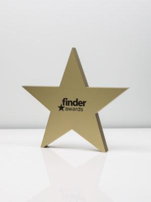 Finder Awards - Gold Star Trophy