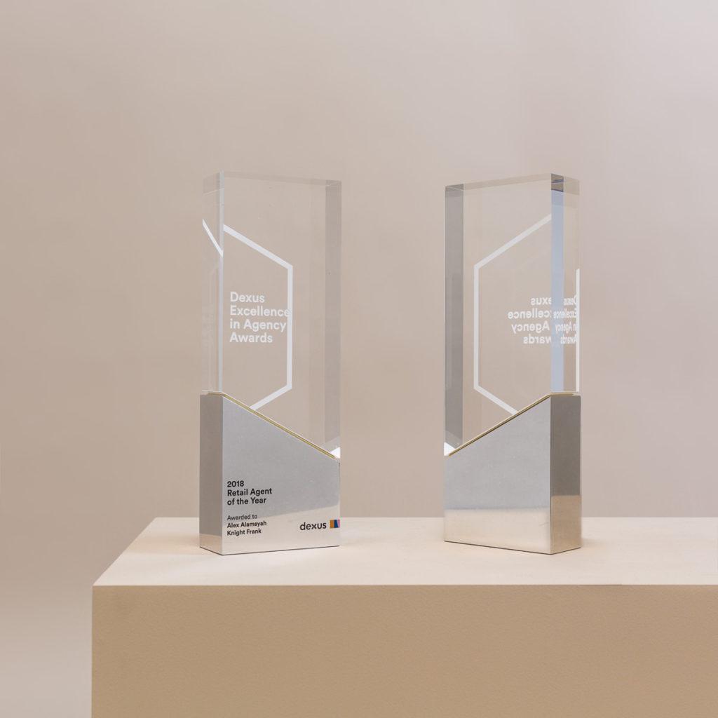 Dexus Metal and Acrylic Pillar Award Trophies