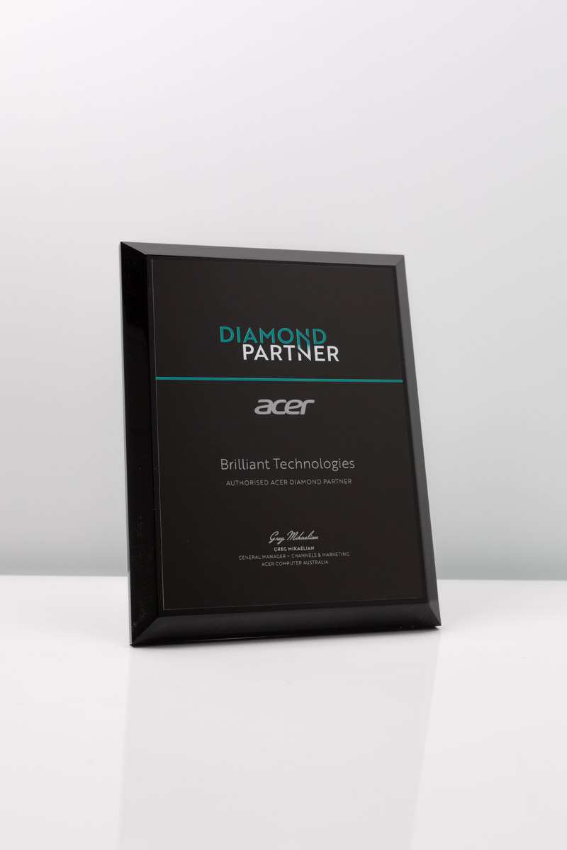 Synchromesh -Acer Diamond Partner Custom Plaque