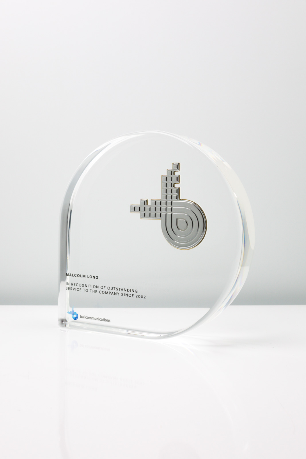 Bai Communications Long Service Recognition Trophy