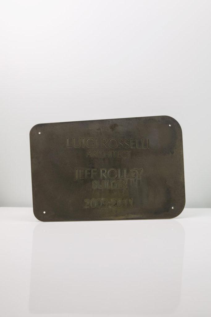 Rosselli Architect Custom Brass Plaque