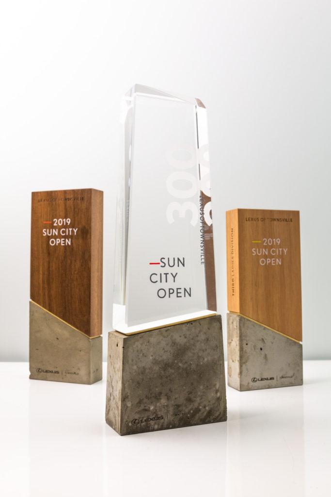 Sun City Open Lexus of Townsville Concrete Shard Pillar